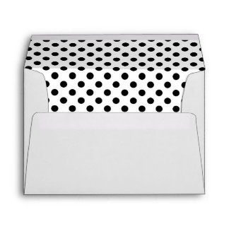 Black and white Polka dots Greeting cards Envelope