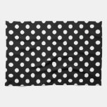 Black and White Polka Dots Hand Towel