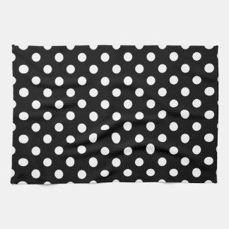 Black and White Polka Dots Hand Towel