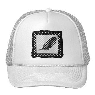 Black and White Polka Dots Mesh Hats