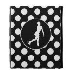 Black and White Polka Dots; Ice Figure Skating iPad Cases