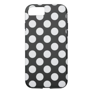 Black and White Polka Dots iPhone 7 Case