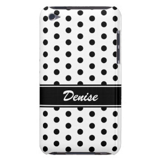 Black and white polka dots iPod case iPod Touch Cover