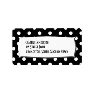 Black and White Polka Dots Personalized Address Labels