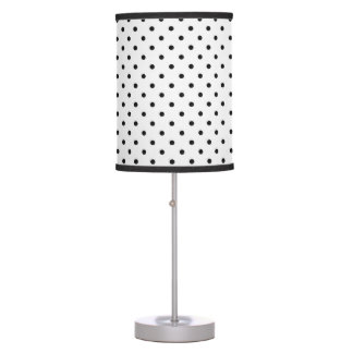 Black and White Polka Dots Table Lamp