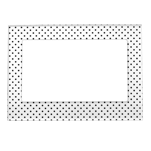 Black and White Polka Dots Magnetic Picture Frame