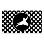 Black and White Polka Dots; Ninja Double-Sided Standard Business Cards (Pack Of 100)