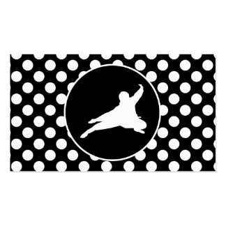 Black and White Polka Dots; Ninja Business Card Template