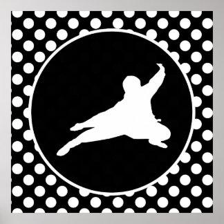 Black and White Polka Dots; Ninja Print