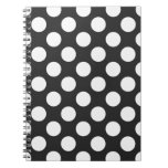 Black and White Polka Dots Notebooks