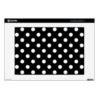 "Black and White Polka Dots Pattern 13"" Laptop Skin"