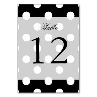 Black and White Polka Dots Pattern Card