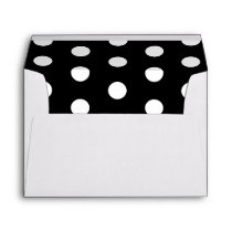 Black And White Polka Dots Pattern Envelope