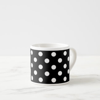 Black and White Polka Dots Pattern Espresso Cup