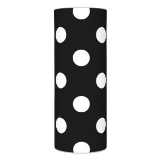 Black and White Polka Dots Pattern Flameless Candle