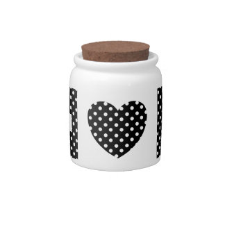 Black and White Polka Dots Pattern Gifts Candy Dishes