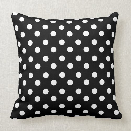 Black and White Polka Dots Pattern Gifts Pillows