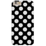 Black and White Polka Dots Pattern Girly Barely There iPhone 6 Plus Case