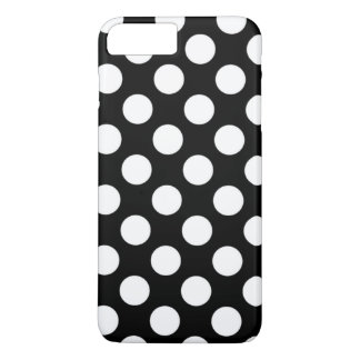 Black and White Polka Dots Pattern Girly iPhone 7 Plus Case