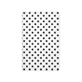 Black and White Polka Dots Pattern Journal