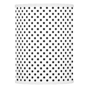 Polka dot lamp shades zazzle black and white polka dots pattern lamp shade aloadofball Gallery