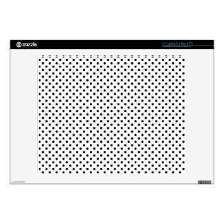 Black and White Polka Dots Pattern Laptop Skins