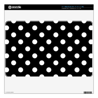 Black and White Polka Dots Pattern MacBook Air Decal