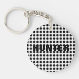 Black and White Polka Dots Pattern | Modern Keychain