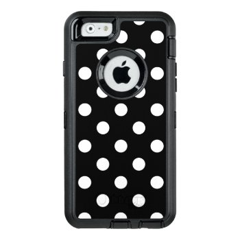 Black And White Polka Dots Pattern Otterbox Defender Iphone Case by allpattern at Zazzle