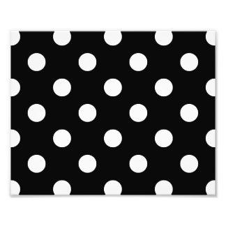Black and White Polka Dots Pattern Photo Print