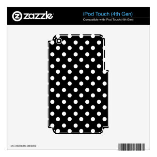 Black and White Polka Dots Pattern iPod Touch 4G Skins