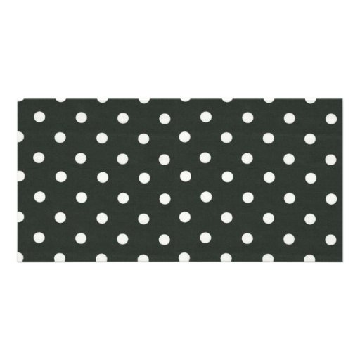 Black and White Polka Dots Photo Card