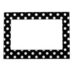 Black and White Polka Dots Picture Frame Magnet