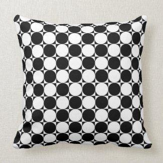 Black and White Polka Dots Pillow