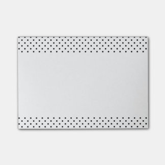 Black and White Polka Dots Post-it® Notes
