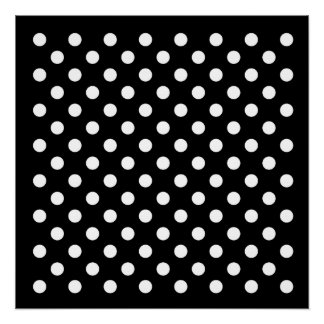 Black and White Polka Dots Poster