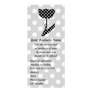 Black and White Polka Dots Rack Card