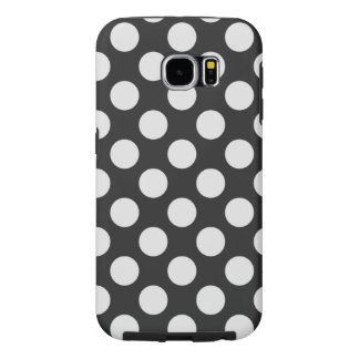 Black and White Polka Dots Samsung Galaxy S6 Case