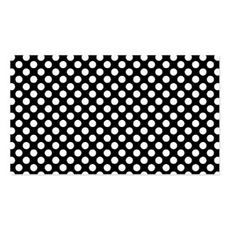 Black and white polka dots simple business cards, Double-Sided standard business cards (Pack of 100)