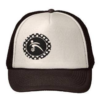 Black and White Polka Dots; Soccer Trucker Hat