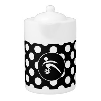 Black and White Polka Dots; Soccer