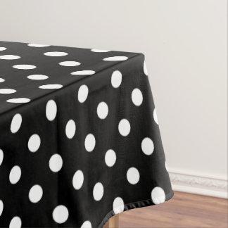 Black and white polka dot tablecloths zazzle for Black polka dot tablecloth