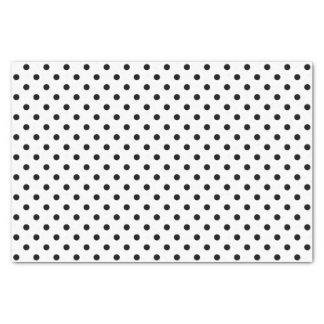 Black and white polka dots tissue paper