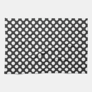 Black and White Polka Dots Towel