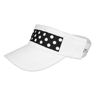 Black and White Polka Dots Visor