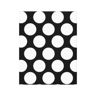 Black and White Polkadot Canvas Print