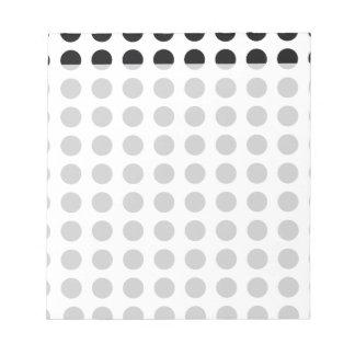 black and white polkadot dream notepad