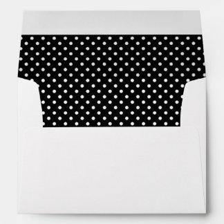 Black and White Polkadot Envelope