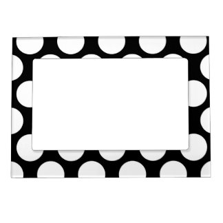 Black and White Polkadot Magnetic Picture Frame