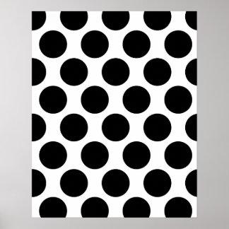 Black and White Polkadot pattern Poster